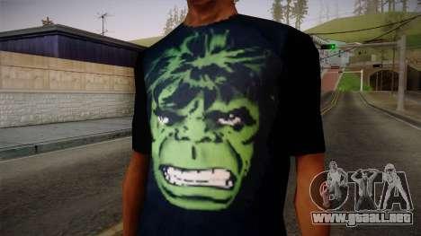 HULK T-Shirt para GTA San Andreas tercera pantalla