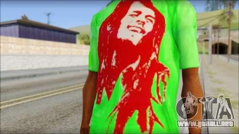 Bob Marley Jamaica T-Shirt para GTA San Andreas tercera pantalla