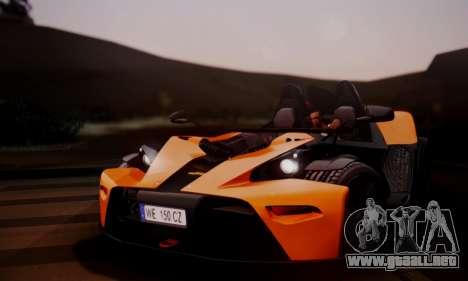 KTM X-Bow R 2011 para la visión correcta GTA San Andreas