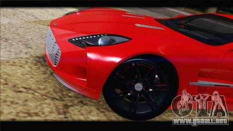 Aston Martin One-77 2010 para la vista superior GTA San Andreas