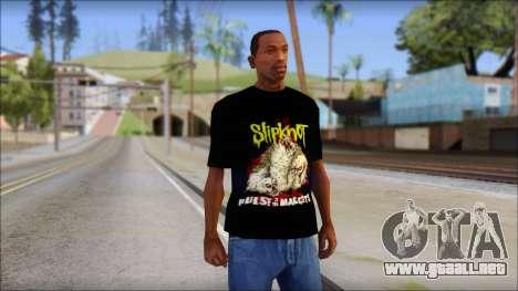SlipKnoT T-Shirt v5 para GTA San Andreas