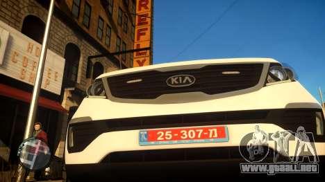 Kia Sportage Israel Police car (Mishtara) para GTA 4 vista hacia atrás