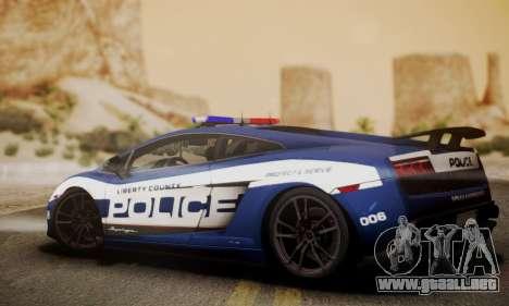 Lamborghini Gallardo LP570-4 2011 Police para GTA San Andreas left