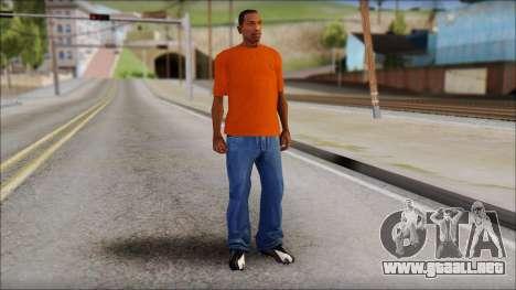 Fred Perry T-Shirt Orange para GTA San Andreas tercera pantalla