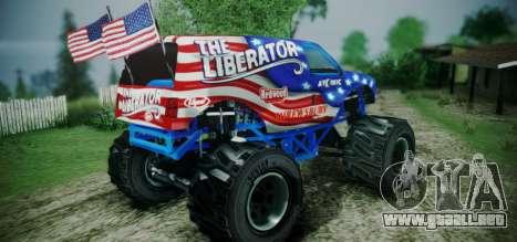 The Liberator - DLC Independence para GTA San Andreas left