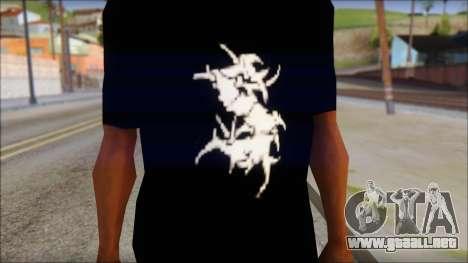 Sepultura Logo T-Shirt para GTA San Andreas tercera pantalla