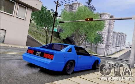 Buffalo Drift Style para GTA San Andreas vista hacia atrás