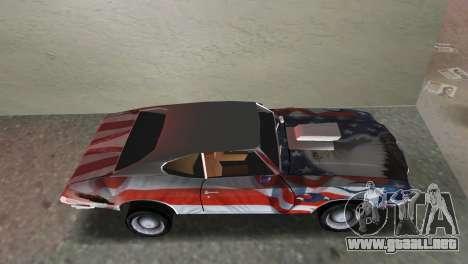 Oldsmobile 442 1970 v2.0 para GTA Vice City vista lateral izquierdo