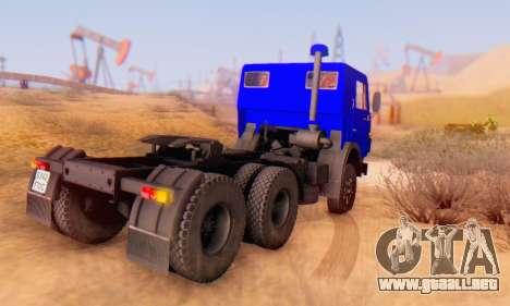 KamAZ 54112 FIV para la visión correcta GTA San Andreas