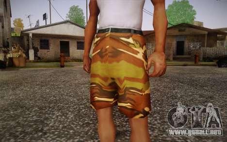 Camo Shorts Pants para GTA San Andreas tercera pantalla