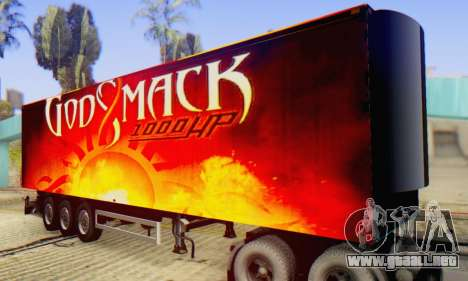 Godsmack - 1000hp Trailer 2014 para GTA San Andreas vista hacia atrás