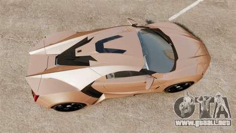 Lykan HyperSport para GTA 4 visión correcta