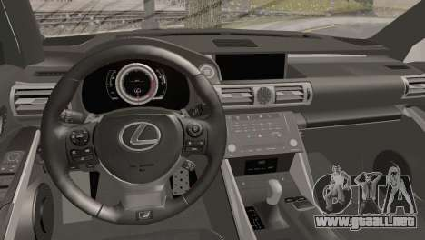 Lexus IS350 FSport 2014 Hellaflush para la visión correcta GTA San Andreas
