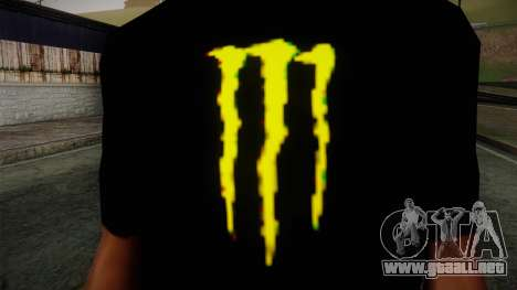 Monster Ripper Shirt Black para GTA San Andreas tercera pantalla