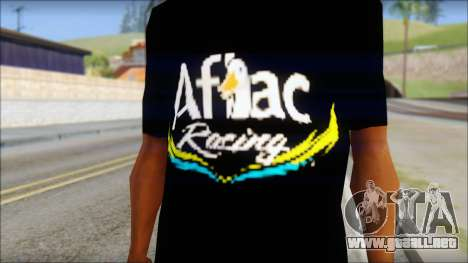 Fictional Carl Edwards T-Shirt para GTA San Andreas tercera pantalla