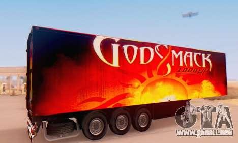 Godsmack - 1000hp Trailer 2014 para GTA San Andreas vista posterior izquierda