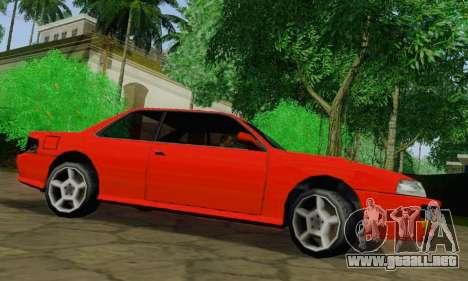Sultan Coupe para GTA San Andreas vista posterior izquierda
