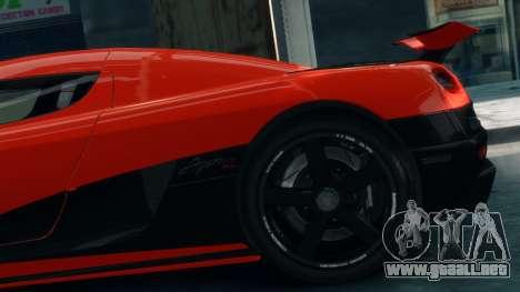 Koenigsegg Agera R 2013 para GTA 4 visión correcta