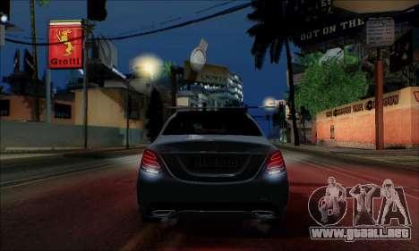 Mercedes-Benz C250 2014 V1.0 EU Plate para visión interna GTA San Andreas