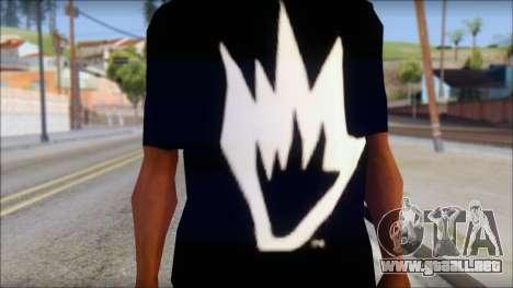Afends T-Shirt para GTA San Andreas tercera pantalla
