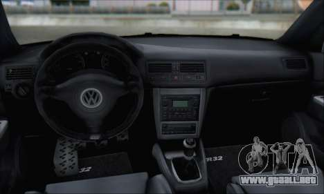 Volkswagen Golf MK4 R32 para vista inferior GTA San Andreas
