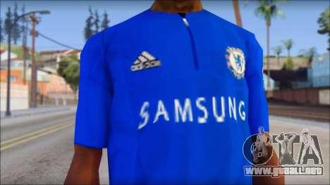 Chelsea F.C Drogba 11 T-Shirt para GTA San Andreas tercera pantalla