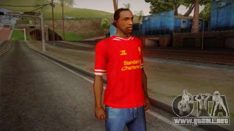 Liverpool FC 13-14 Kit T-Shirt para GTA San Andreas