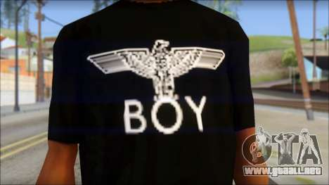 Boy Eagle T-Shirt para GTA San Andreas tercera pantalla