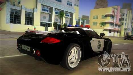 Porsche Carrera GT Police para GTA Vice City left
