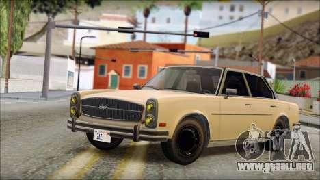 Benefactor Glendale from GTA 5 para GTA San Andreas