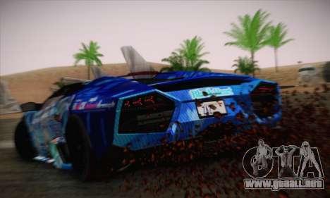 Lamborghini Reventon Black Heart Edition para GTA San Andreas left
