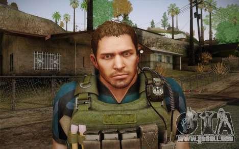 Chris Redfield from Resident Evil 6 para GTA San Andreas tercera pantalla