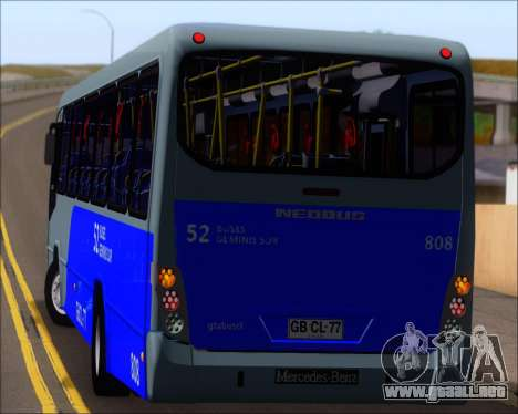 Neobus Spectrum City Mercedes Benz OF-1722 para GTA San Andreas