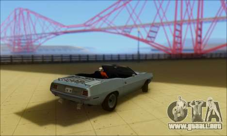 Plymouth Cuda 1970 Stock para GTA San Andreas left