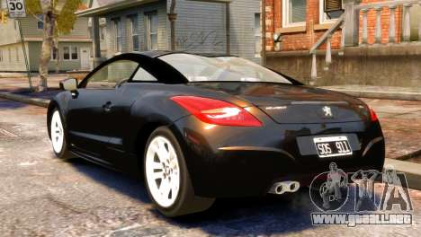 Peugeot RCZ para GTA 4 left