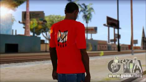 Duff T-Shirt para GTA San Andreas segunda pantalla