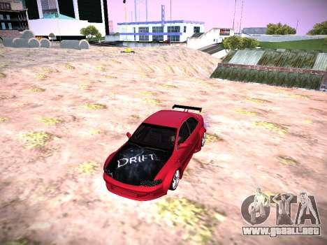 Audi A4 Extrema para GTA San Andreas vista posterior izquierda
