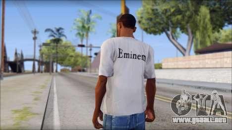 Eminem T-Shirt para GTA San Andreas segunda pantalla