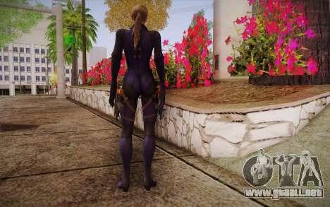 Jill Valentine from Resident Evil para GTA San Andreas segunda pantalla