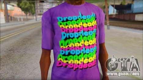 Dropdead T-Shirt para GTA San Andreas tercera pantalla
