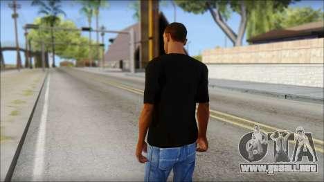 Infected Rain T-Shirt para GTA San Andreas segunda pantalla