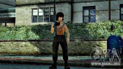 Rambo para GTA 4 adelante de pantalla