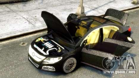 Volkswagen CC para GTA 4 Vista posterior izquierda