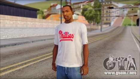 Phillies T-Shirt para GTA San Andreas