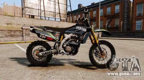 Yamaha YZF-450 v1.12 para GTA 4 left