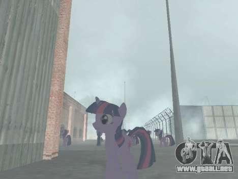 Twilight Sparkle para GTA San Andreas sucesivamente de pantalla