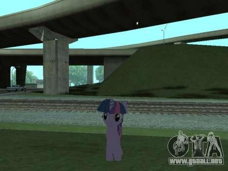 Twilight Sparkle para GTA San Andreas quinta pantalla