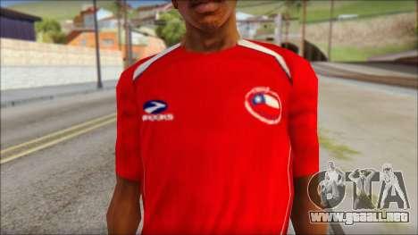 Chile T-Shirt para GTA San Andreas tercera pantalla