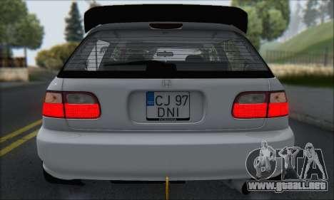 Honda Civic 1995 para las ruedas de GTA San Andreas