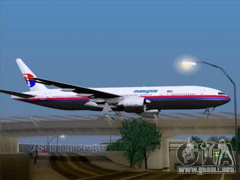 Boeing 777-2H6ER Malaysia Airlines para la visión correcta GTA San Andreas